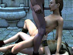 lara croft threesome