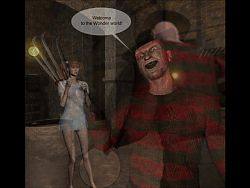 Freddy Wet Dream by beachbootyman